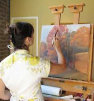 Jan Painting Landscape