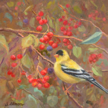 goldfinch_and_berries